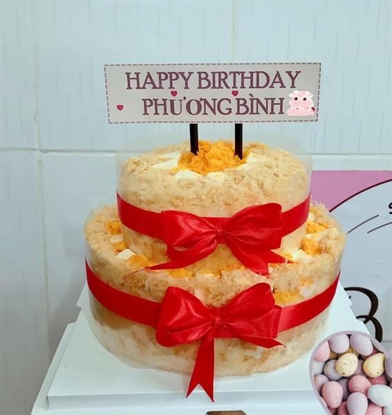 Bánh sinh nhật 2 tầng (22cm-16cm)