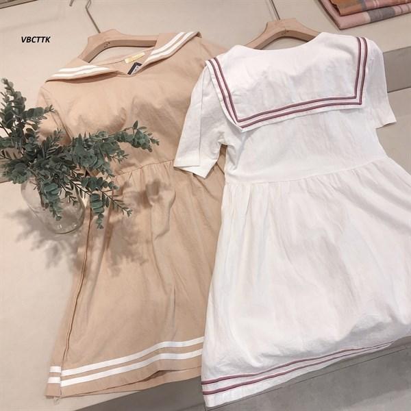 Váy BBD Cổ Thủy Thủ Kẻ