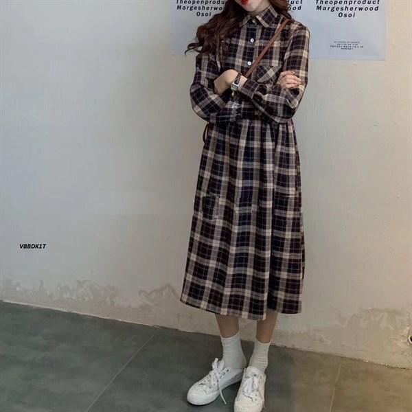Váy BBD Kẻ 1 Túi