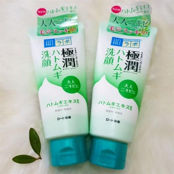 Sữa Rửa Mặt Hada Labo Gokujyun Face Wash 100g Nhật Bản Dạng Tuýp