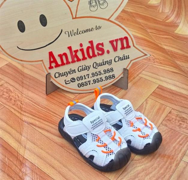 giày sandal tập đi cho bé trai cao cấp Ankids 523