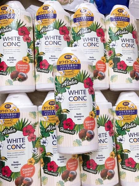 Mẫu mới 2020) Sữa tắm dưỡng trắng White Conc Body Shampoo 360ml #Dưỡng  trắng, mờ thâm