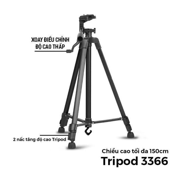 Tripod 3 chân 3366