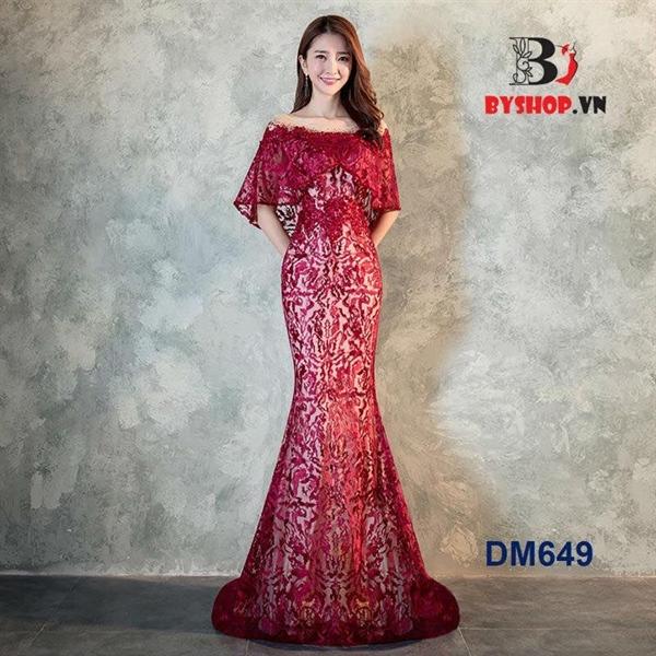 DM649 - Đầm dạ hội dự tiệc trễ vai ôm body quyến rũ sang trọng