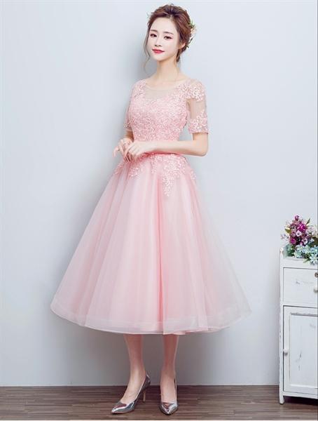 HK111 - Váy đầm dạ hội ren cao cấp xòe vintage nữ tính.