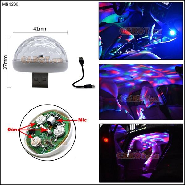 Đèn USB LED chớp theo nhạc