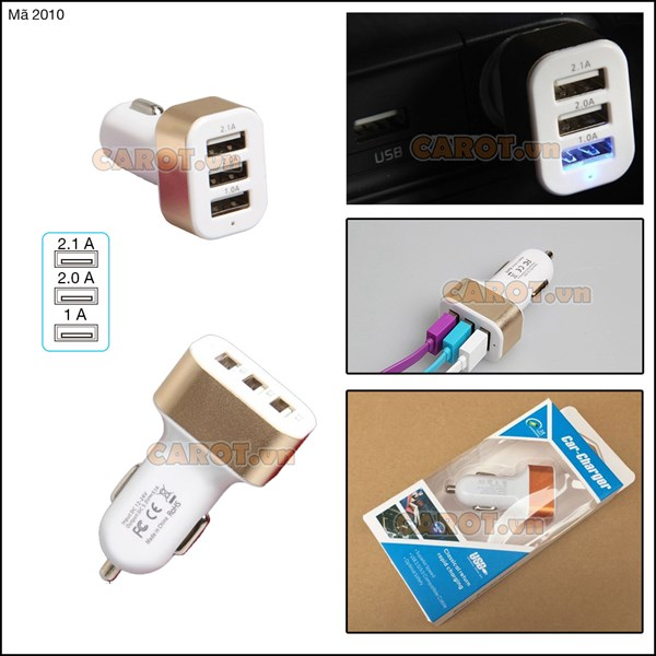 Tẩu chia 3 cổng USB