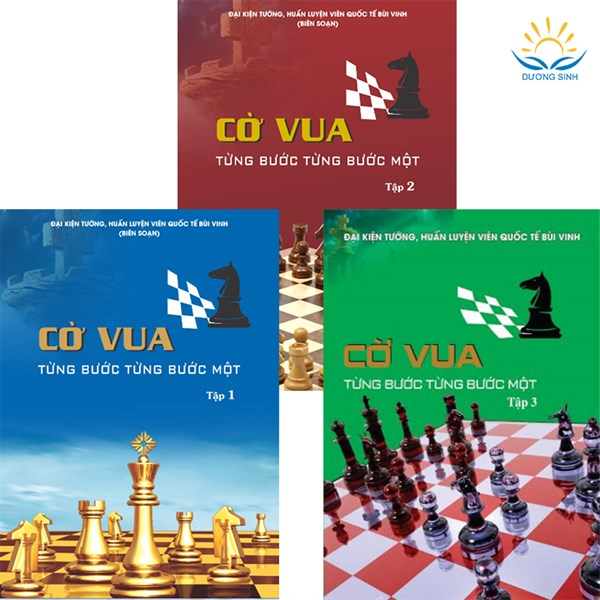 Combo 3 cuốn Cờ vua - Từng bước từng bước một, Tập 1, 2, 3