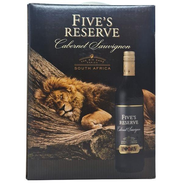 Vang bịch Five's Reserve Cabernet Sauvignon 3L (Nam Phi)