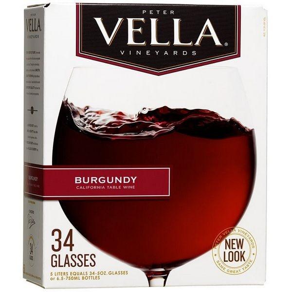 Vang bịch Peter Vella Burgundy 5L (Mỹ)