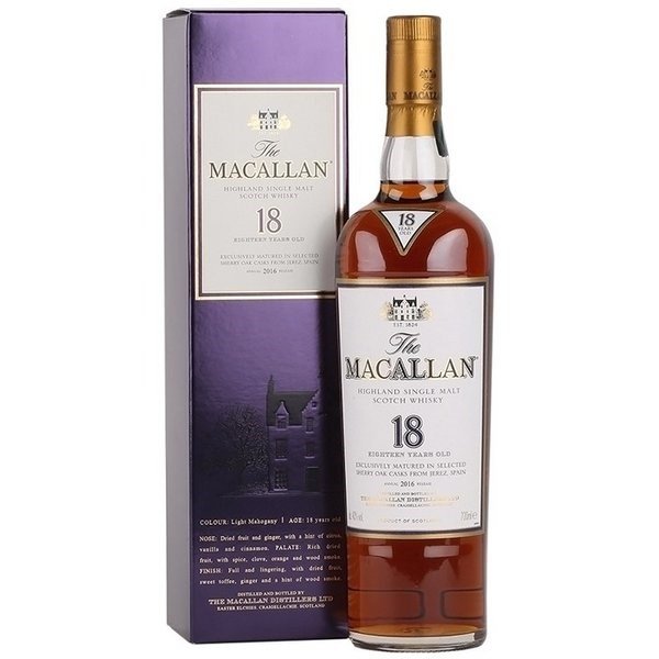 Macallan 18 Năm Eighteen (Sherry Oak Cũ)