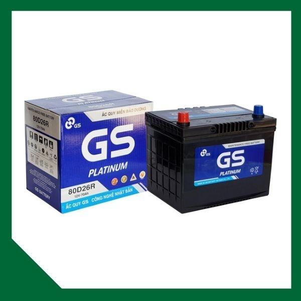 Bình ắc quy GS 12V 70Ah (khô )