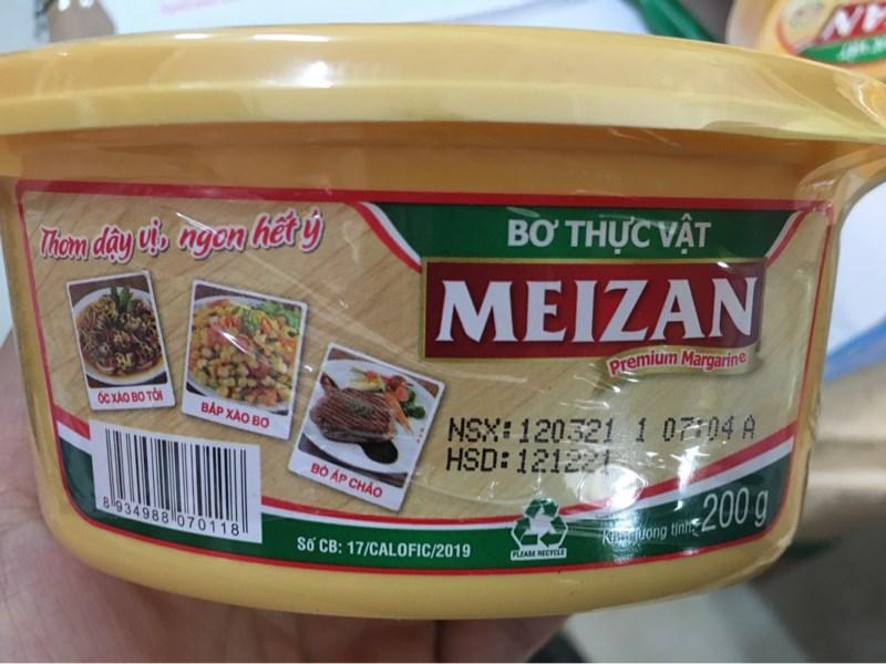 Bơ thực vật Meizan hộp 200gr