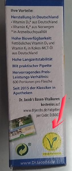 Vitamin D3K2MK7 hàng hữu cơ nội địa Đức, đi air date t12/22