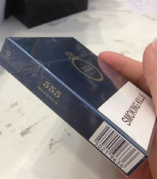 Thuốc lá State Express 555 Mandarin Dẹt hàng Singapore