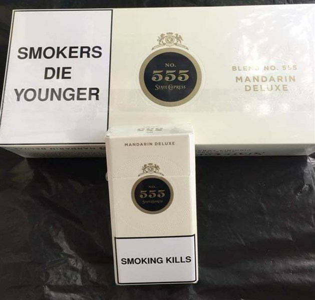 Thuốc lá ba số 555 Mandarin Deluxe , trắng, điếu dài singapore