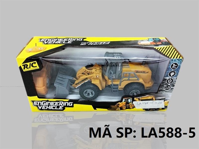LA588-5 HỘP XE CT XÚC ĐK 7 Đ.TÁC, KHÔNG SẠC TL 1:30 Engineering Vehicle