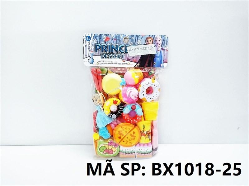 BX1018-25 TÚI BẾP DÍNH BÁNH SINH NHẬT, BÁNH NGỌT, DONUT, 1C BABY NGƯỜI TUYẾT (PVC) Princess Dessert