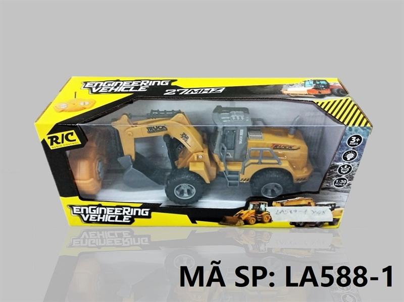 LA588-1 HỘP XE CT CÀO ĐK 7 Đ.TÁC, KHÔNG SẠC TL 1:30 Engineering Vehicle