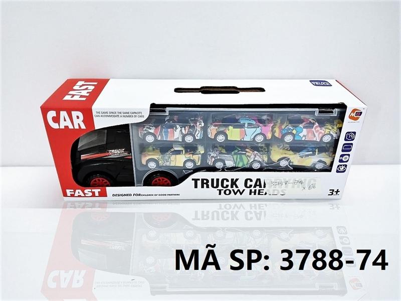3788-74 HỘP XE CONTAINER TRỚN CHỞ 6C XE HƠI CÓ CẢN Truck Carrying