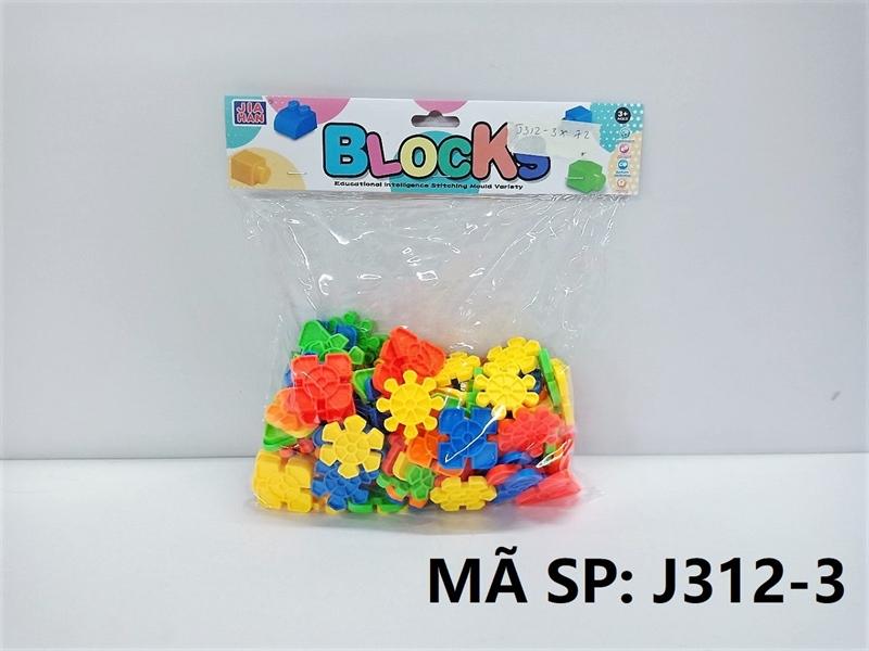 J312-3 TÚI RÁP BÔNG TUYẾT 110 MIẾNG (PVC) Blocks