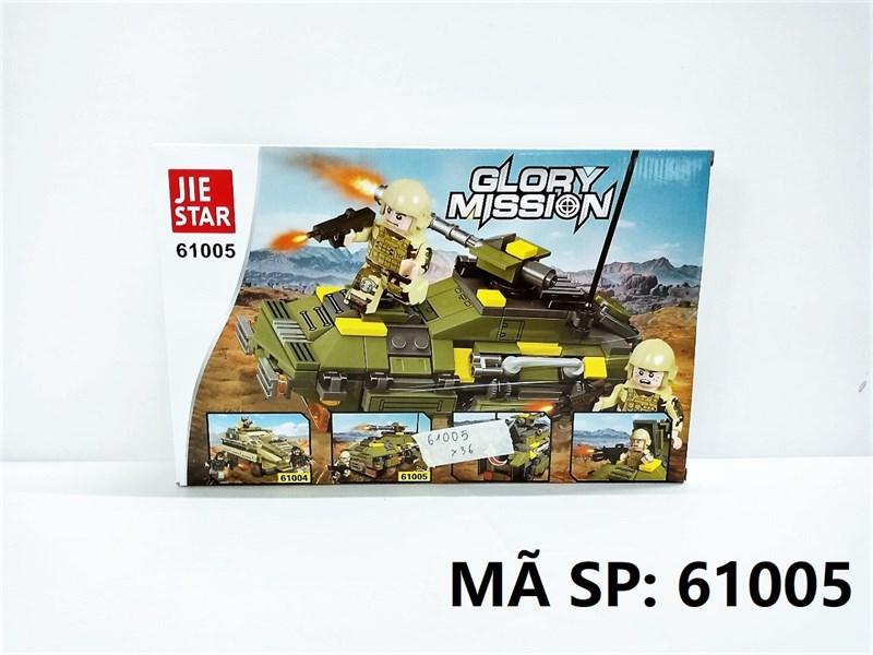 61005 HỘP LOGO RÁP XE TĂNG 248 MIẾNG Glory Mission