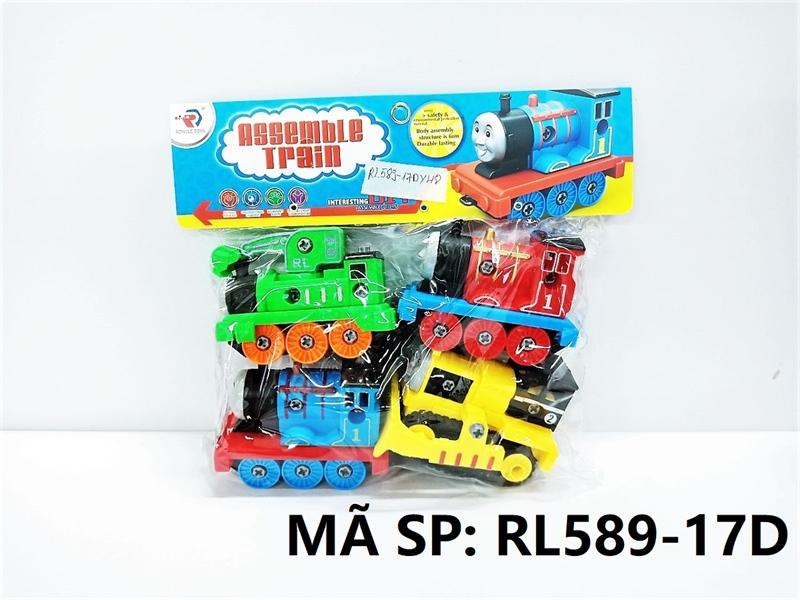RL589-17D TÚI XE LỬA TRỚN 4C ĐỦ MẪU + ỐC VÍT (PVC) Assemble Train