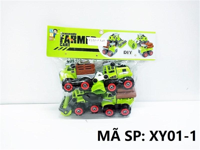 XY01-1 TÚI XE CT NÔNG NGHIỆP TRỚN 4C ĐỦ MẪU + ỐC VÍT (PVC) Farmer Cart