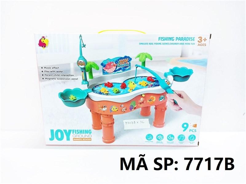 7717B HỘP CÂU CÁ NƯỚC PIN 9C CÓ CHÂN Joy Fishing