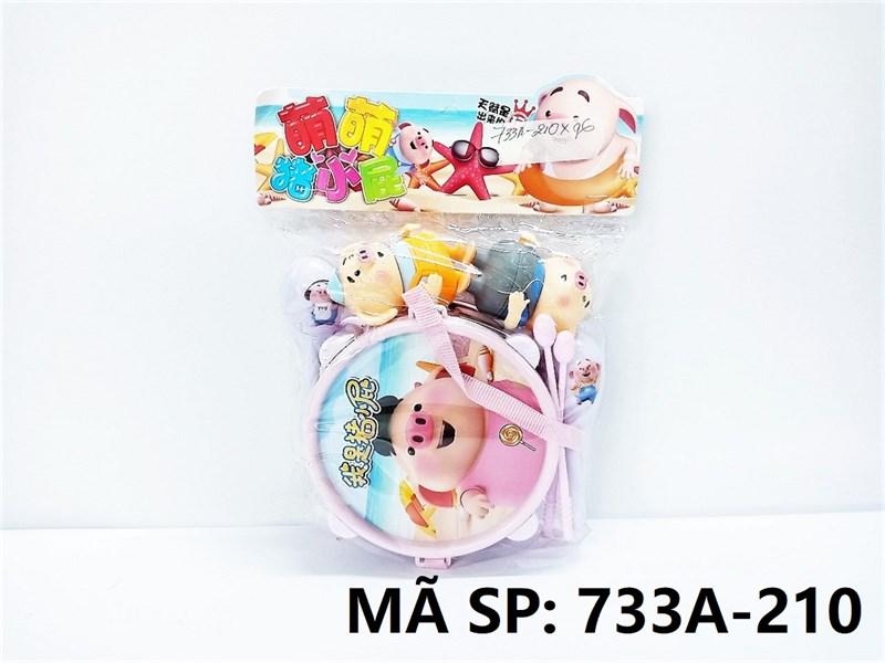 733A-210 TÚI TRỐNG + 2C LẮC + 2C HEO (PVC)
