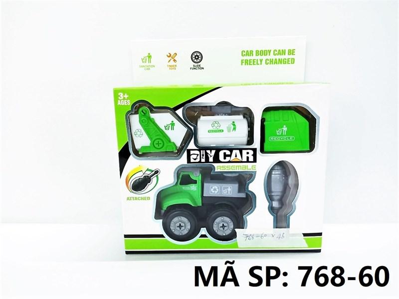 768-60 HỘP XE CT VỆ SINH TRỚN 4 IN 1 (HỐT RÁC, CẨU, BỒN NƯỚC) + ỐC VÍT Diy Car Assemble