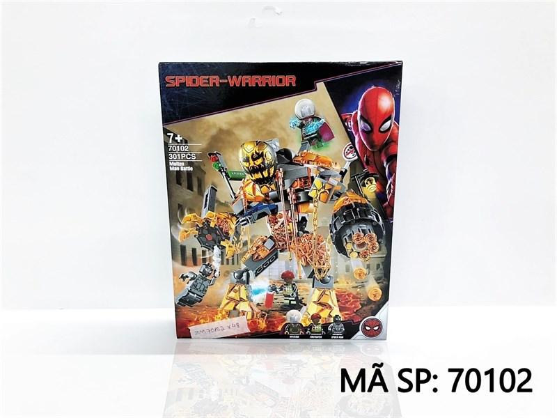 70102 HỘP LOGO RÁP ROBO SPIDER-WARRIOR 301 MIẾNG