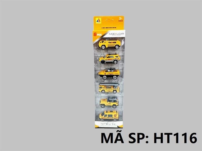 HT116 HỘP XE SẮT TRỚN 6C ĐỦ MẪU (HƠI, TĂNG, JEEP, THANG) Model Car HT-115, HT-116, HT-117, HT-118, HT-119