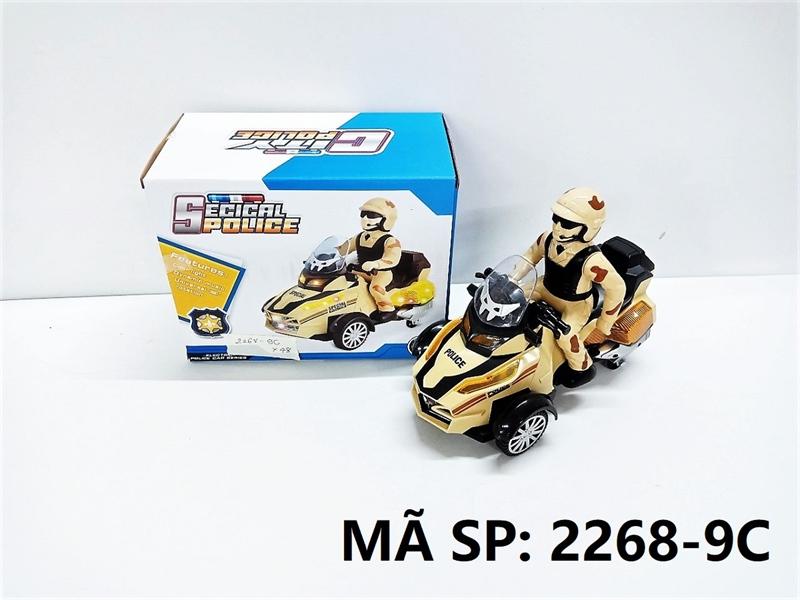2268-9C HỘP XE MOTO CS PIN ĐÈN CÓ NGƯỜI Secical Police