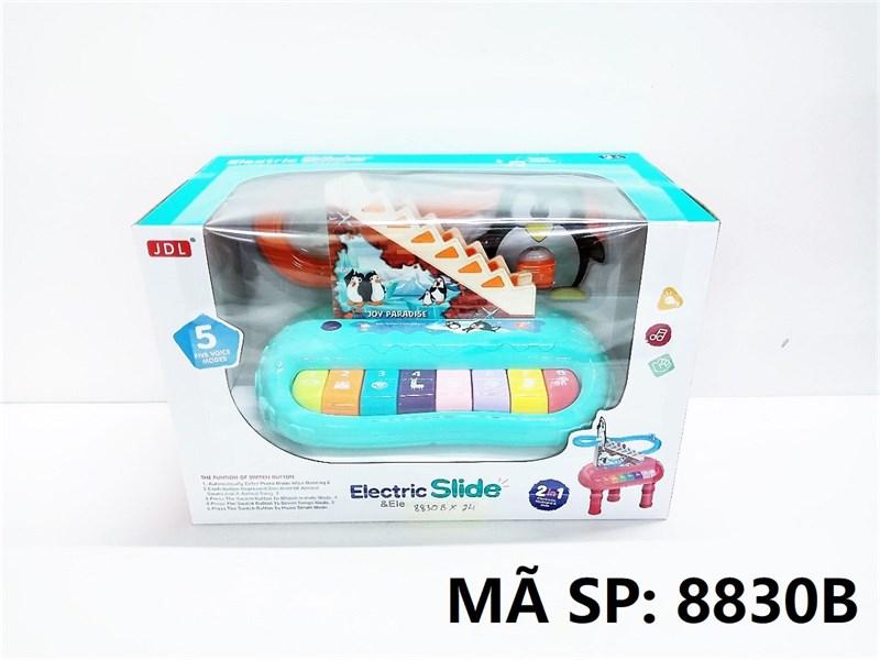 8830B HỘP ĐÀN ORGAN PIN + CHIM CÁNH CỤT LEO THANG 2 IN 1 Electric Slide