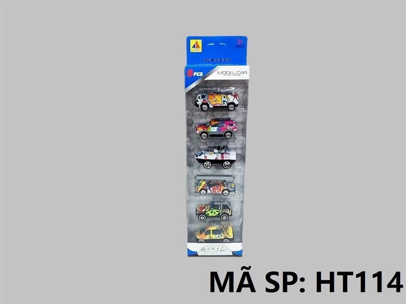 HT114 HỘP XE SẮT TRỚN 6C ĐỦ MẪU (HƠI, TĂNG, JEEP, THANG) Model Car HT-110, HT-111, HT-112, HT-113, HT-114