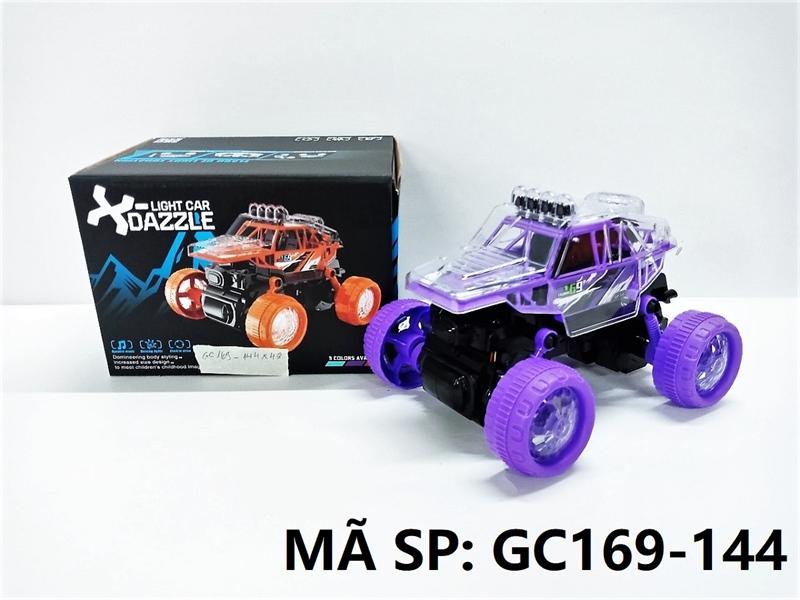 GC169-144 HỘP XE JEEP ĐỊA HÌNH PIN ĐÈN LED 3D, BÁNH ĐÈN, XOAY 360 ĐỘ X-Light Car Dazzle (GC169-142)