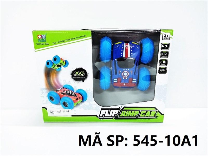545-10A1 HỘP XE HƠI ĐỊA HÌNH CAPTAIN AMERICA ĐK 7 Đ.TÁC, CÓ SẠC, XOAY 360 ĐỘ TL 1:18 Flip Jump Car 545-10A