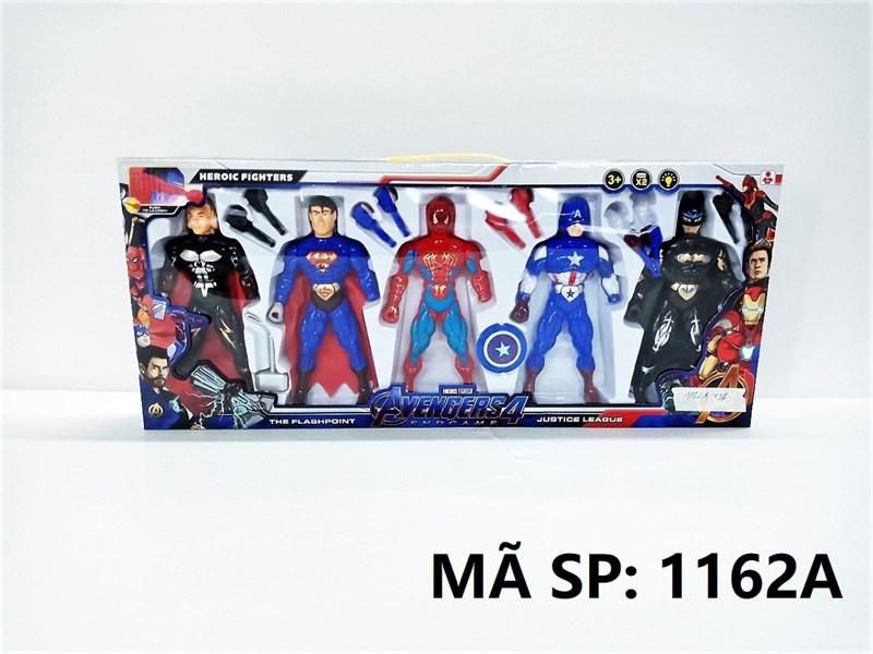 1162A HỘP SN 5T AVENGERS ĐÈN (THOR, SUPER HERO, NHỆN, CAPTAIN, BATMAN ĐEN)