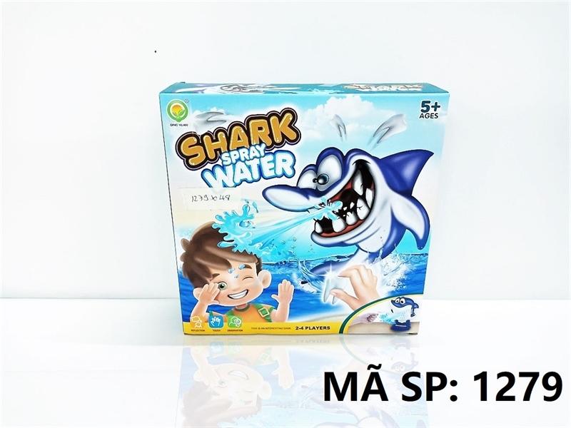 1279 HỘP TRÒ CHƠI CÁ MẬP PHUN NƯỚC Shark Spray Water