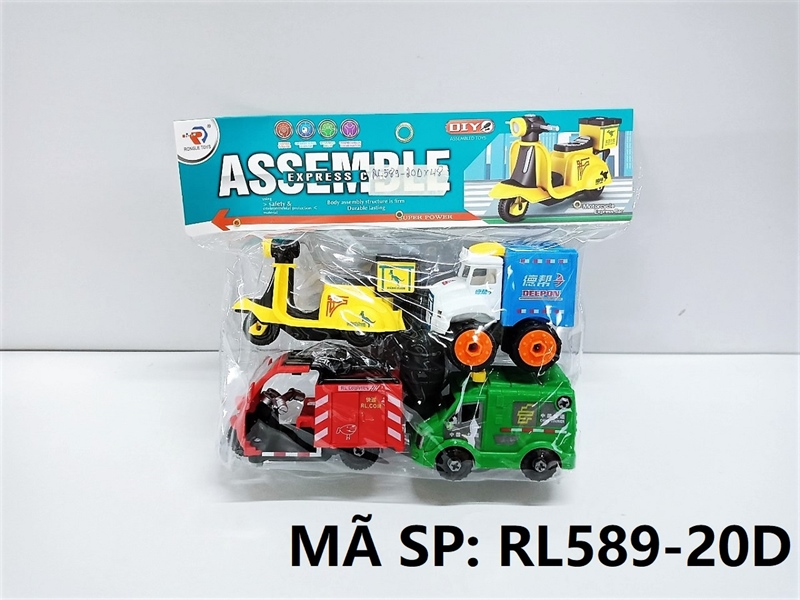 RL589-20D TÚI XE CHUYỂN PHÁT NHANH TRỚN 4C ĐỦ MẪU + ỐC VÍT (PVC) Assemble Express Car