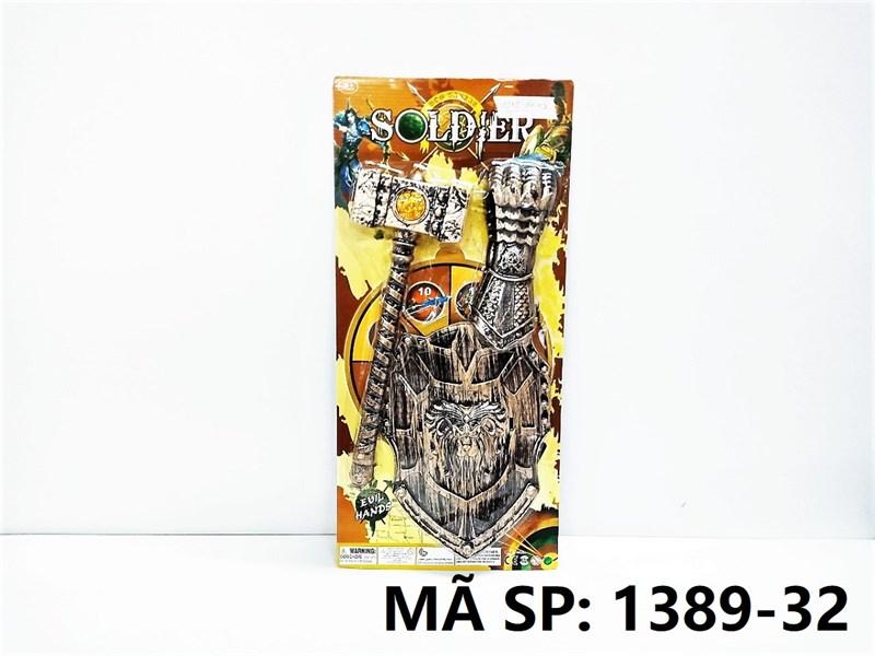1389-32 VĨ KHIÊN SƯ TỬ + BÚA + GĂNG TAY Solder
