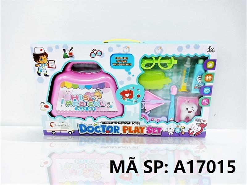 A17015 HỘP BÁC SĨ RĂNG, VALI, MẮT KIẾNG, BÀN CHẢI, KEM ĐÁNH RĂNG Doctor Play Set