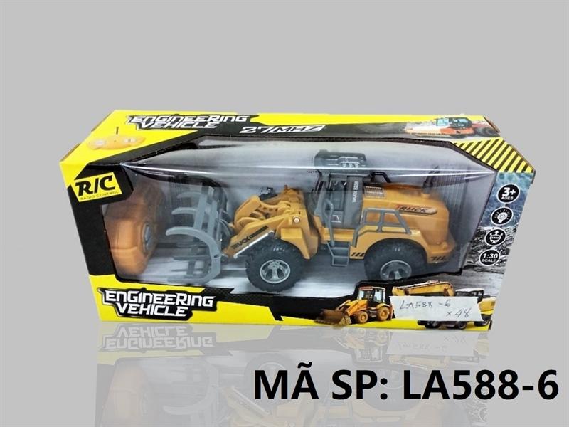 LA588-6 HỘP XE CT GẮP ĐK 7 Đ.TÁC, KHÔNG SẠC TL 1:30 Engineering Vehicle