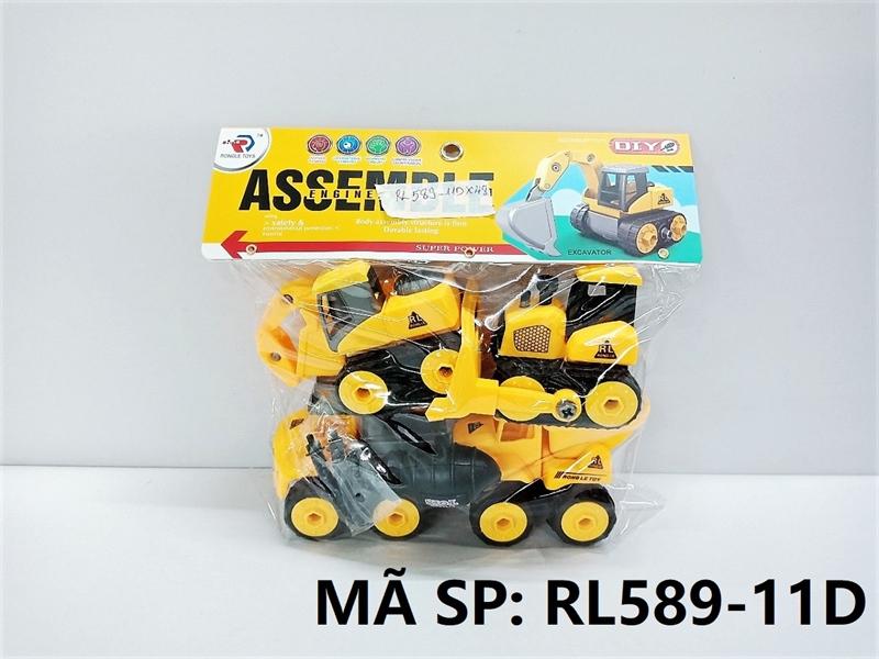 RL589-11D TÚI XE CT TRỚN 4C ĐỦ MẪU + ỐC VÍT (PVC) Assemble Engineering