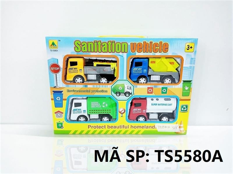TS5580A HỘP XE CT VỆ SINH TRỚN 4C ĐỦ MẪU (HỐT RÁC, BỒN NƯỚC) Sanitation Vehicle TS-5580A