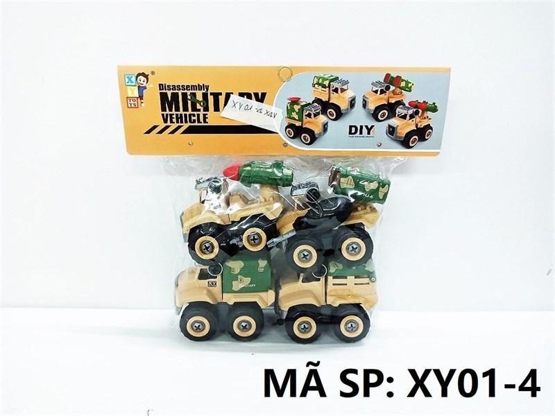 XY01-4 TÚI XE QUÂN SỰ TRỚN 4C ĐỦ MẪU + ỐC VÍT (PVC) Military Vehicle