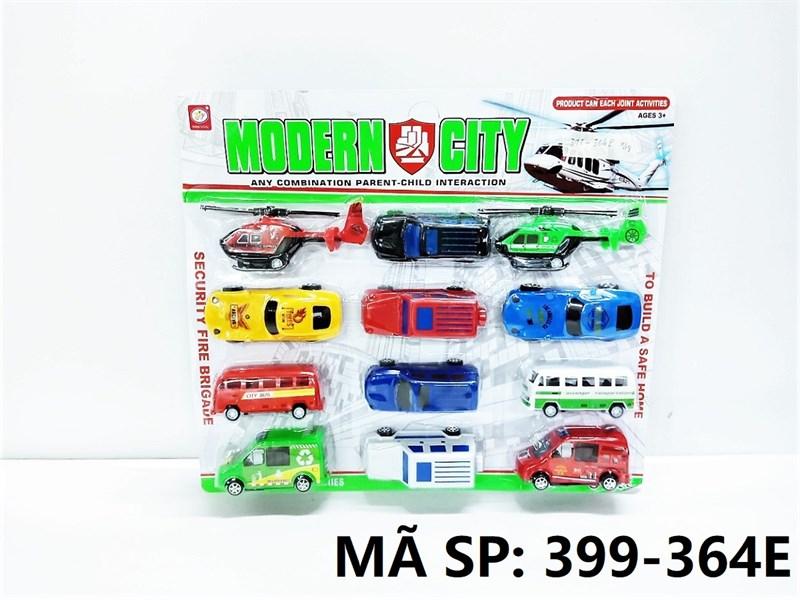 399-364E VĨ XE HƠI, BUS, TRỰC THĂNG TRỚN 12C Modern City 399-78B, 399-268B, 399-364E