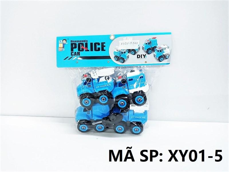 XY01-5 TÚI XE CS TRỚN 4C ĐỦ MẪU + ỐC VÍT (PVC) Police Car