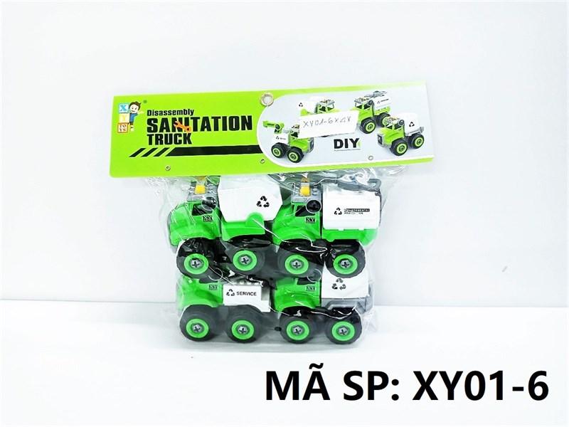 XY01-6 TÚI XE CT VỆ SINH TRỚN 4C ĐỦ MẪU + ỐC VÍT (PVC) Sanitation Truck